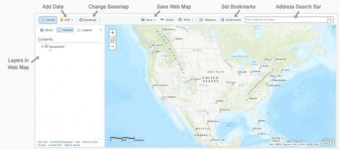 ArcGIS Online Webmap Arayüzü