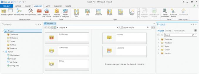 arcgis pro kullanıcı arayüzü