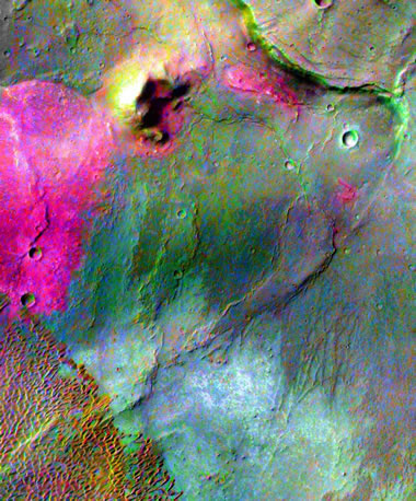 Mars'ta Dacite Lav Akışı