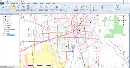 Geomedia Harita Penceresi