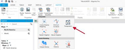 MapInfo Professional tarama araçları