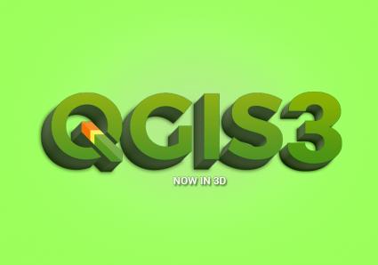 QGIS 3 3D Logosu