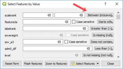 qgis 3 özellik değerini seçin