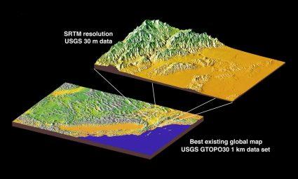 srtm mekik radar topografya görevi
