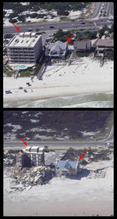 fırtına dalgası - Orange Beach - Kasırga Ivan